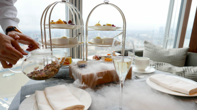 Luxury Afternoon Tea in the clouds! The perfect idea for Valentine's Day!