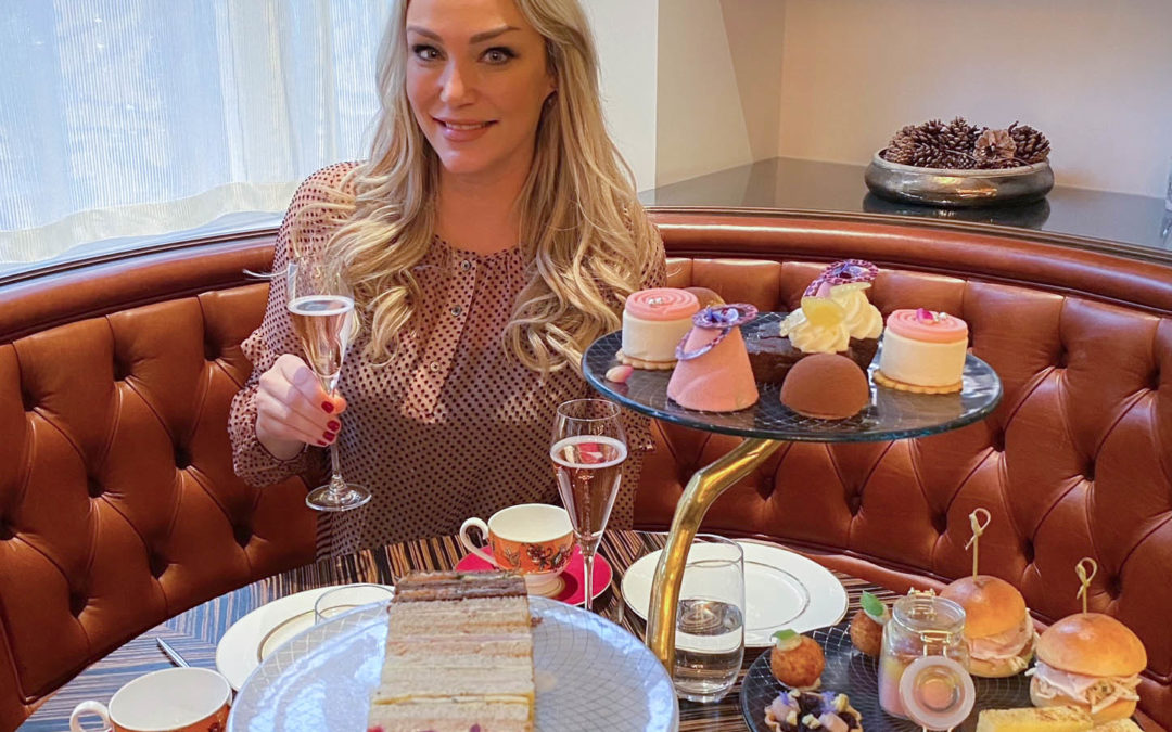 Luxurious Pink Afternoon Tea at Adam Handling Chelsea
